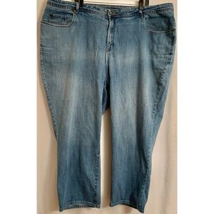 Catherine's slimmer classic size 28w blue jeans